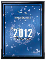 ProLingo was voted Best of Orlando 2012 for Translation Services